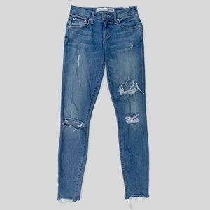 Lovers + Friends Ricky Skinny Jeans Distressed 24